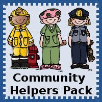 Free Community Helpers Pack for ages 2 to 9 - 3Dinosaurs.com