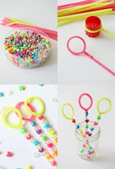 DIY Bubble Wand Tutorial Craft for Kids