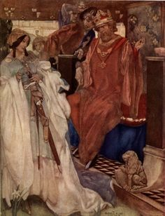 Flint, Sir W. Russell (1880 - 1969) L'épée d'Arthur
