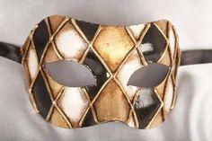 black gold masquerade mask for man