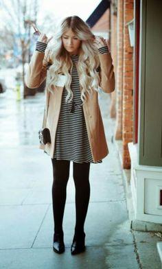 Muitas mulheres sentem dificuldade no Inverno quando o assunto é Vestido! Qual o casaco certo? Qual o melhor sapato? Posso usar qualquer casaco, blaze...