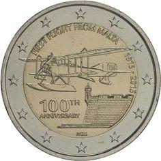 2 euro Malta 2015 - Malta 2015 - First Flight 2 euro Malta 2015 Description: 100…
