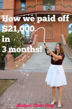 How we paid off $21000 in 3 months! We followed the Dave Ramsey plan and used the debt snowball to pay off debt quick! These pay off debt tips will help you pay off your debt fast! #payoffdebt #creditcards #debtsnowball #daveramsey