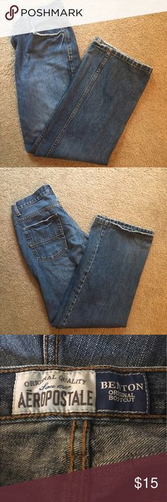 Aeropostale bootcut jeans Benton original bootcut jeans. These don't have stretch. Size 31/32. All measurements are approx. Aeropostale Jeans Boot Cut