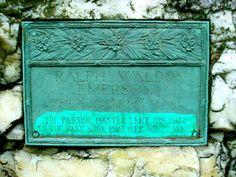 Concord ~ Massachusetts ~ Sleepy Hollow Cemetery ~ Author's Ridge ~ Grave of Ralph Waldo Emerson