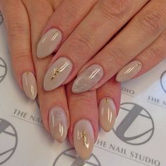 In love with this elegant look by @tee__ohh. The nude color and subtle marbling emoji featuring our tiniest and elegant Skinny Triangle and dot Metal studs made in Tokyo. These elegant studs available www.InTheNailRoom.com