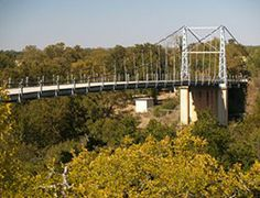 The Regency Bridge outside of San Saba is the oldest suspension bridge in the state open to vehicular traffic, and some say the most beautiful old bridge in Texas.
