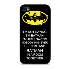 Hero Batman Words iPhone 4, 4s Case