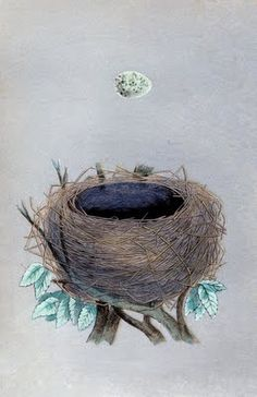 Vintage Instant Art Printable - Nest with Egg - The Graphics Fairy