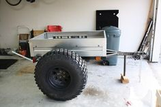 Mini Harbor Freight (type) Trailer Ultimate Build-Up Thread - Page 8 Bug Out Trailer, Off Road Camper Trailer, Small Trailer, Trailer Plans, Trailer Build, Atv Trailers, Adventure Trailers, Camping Trailers, Expedition Trailer