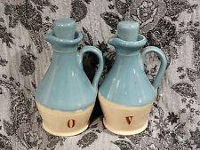 Buchan Portobello Scotland - Blue & White Oil and vinaigrette Bottle & Stoppers
