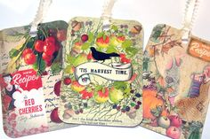 Gift Tags Vintage Inspired Harvest Canning Set of 6 by SiriusFun, $5.50