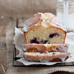 Lemon-blueberry drizzle bread.