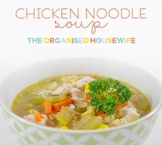 An immune boosting chicken noodle soup that is like a medicine bomb for the winter flu! Packed with protein and veggies, it's a must for sick kids. Soup Recipes, Healthy Recipes, Recipies, Winter Soups, Chicken Noodle Soup, Quick Meals, Easy Dinners, Light Recipes, Soup And Salad