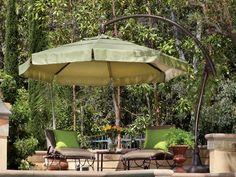 Treasure Garden Cantilever Aluminum 11' Crank Lift and Tilt Umbrella | AG28
