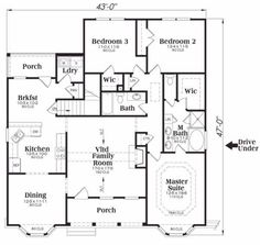 1600 sf 3 bedroom Modern Open Floor Plans 1600 square feet 3