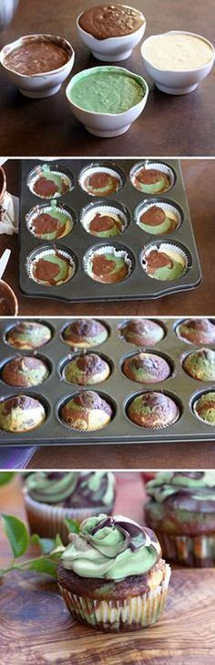 EASY Camouflage Cupcakes Recipe. Paintball Birthday Party Ideas??