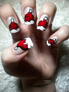 Very cute for Christmas!! 10 DIY Manicure Ideas To Glam Up Your Nails!