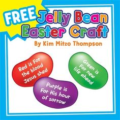 Free Easter Craft: The Jelly Bean Prayer with Poem, Patterns and Writing Paper