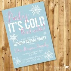 Baby It's Cold Outside! Customizable Baby Shower or Gender Reveal Invitation by MyKyCatahoula on Etsy https://www.etsy.com/listing/206266849/baby-its-cold-outside-customizable-baby