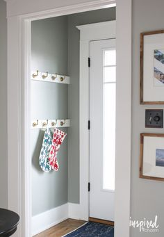 Going Gray in the Entryway | inspiredbycharm.com