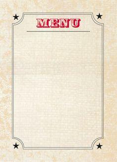 Retro themed wedding menu