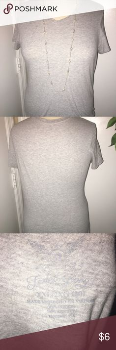 Grey T shirt Plain grey T shirt. Dress it up or down! Excellent condition! Faded Glory Tops Tees - Short Sleeve