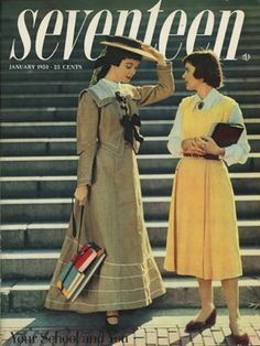 The January 1950 issue of Seventeen was school themed!