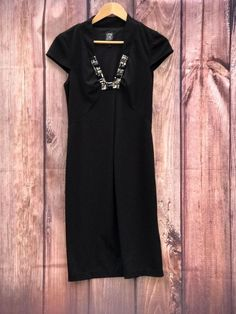 Womans Little Black Dress by Jax with beads around neckline size 10 nice style Clothes For Sale, Clothes For Women, Click Photo, Girl Outfits, Size 10, Short Sleeve Dresses, Neckline, Shirt Dress, Beads