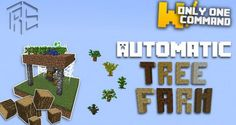 Command Block | Automatic tree farm with only one command block Map | Minecraft ...