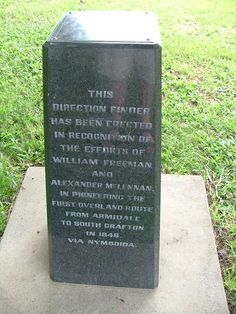 Direction Finder Memorial ~ - William FREEMAN & Alexander McLENNAN in Lane Boulevard cnr Through St & Skinner St South Grafton ~ photo courtesy Mick Reed