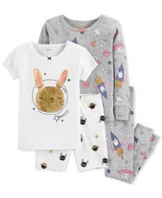 Carter's Baby Girl Rabbit in Space Glittery Tops & Bottoms Pajama Set Baby Girl Pajamas, Baby Girl Tops, Carters Baby Girl, Toddler Girl, Baby Girls, Toddler Outfits, Kids Outfits, Boys Sleepwear, Kids Nightwear