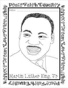 Martin Luther King Coloring Page FREEBIE! from Amelia'sTeacherBoutique on TeachersNotebook.com -  (1 page)  - Free coloring page!