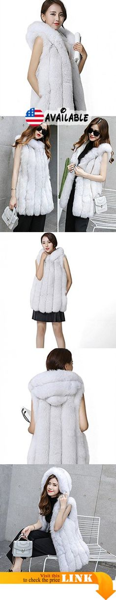 B077B1XKBR : MINGCHUAN Women's Real Fox Fur Vest With Hood Thick Warm Hoodie Vest Sleeveless Coat Outwear. MATERIALS - Made of 100% Real Natural Fox Fur and polyester lining not only the vest but also you will be the most shining. Lightweight and comfy in full pelt it's equally elegant with leather trousers and jeans.. ELEGANT AND LUXURIOUS - With the most luxurious fur and natural softness this fur vest is a visual and tactile work of art that makes your winter warm and