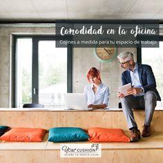 La comodidad es tendencia también en tu oficina🔝😍 Crea espacios de trabajo más cómodos que nunca con los cojines a medida de Your Cushion👌 En nuestra web podrás personalizar tus cojines y puffs a medida eligiendo la forma, relleno y tela de todo tipo de cojines a medida. ¡Sé creativo! 😉😉 Haz que tus empleados 👩💻👨💻 se sientan como en casa 🏠 con los cojines a medida de Your Cushion.   #decoracion #tendencias #espacioscoworking #espacioschill #cojinesamedida #puffsamedida
