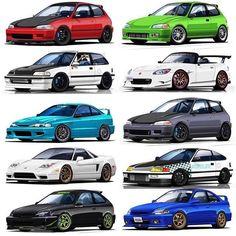 Voiture Honda Civic, Honda Civic Coupe, Honda Civic Hatchback, Honda Crx, Honda Civic Type R, Tuner Cars, Jdm Cars, Soichiro Honda, Civic Eg