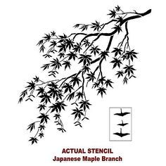 Cutting Edge Stencils - Japanese Maple Branch Stencil