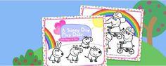 Adorable Peppa Pig printable coloring storybook for SPRING! Weeeeeeeeee!  www.nickjr.com/...