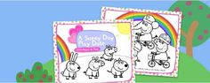 Adorable Peppa Pig printable coloring storybook for SPRING! Weeeeeeeeee!  www.nickjr.com/...