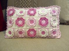 Crocheted cushion for my granddaughter - By Sharon Blignaut