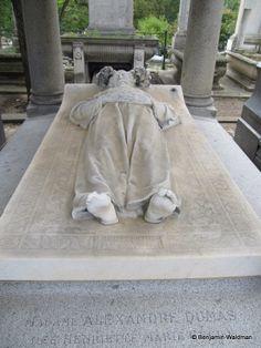 Tomb of author Alexandre Dumas in Cimetiere Montmartre, Paris ᘡղbᘡ