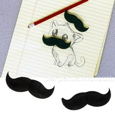 mustache erasers [it would be nice to find these locally in a dollar bin lol] stocking stuffer