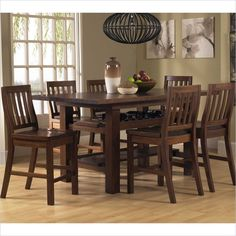 Outback 7 Piece Counter Height Dining Set is a part of Outback Collection by Hillsdale Furniture Pub Table And Chairs, Bar Height Dining Table, Counter Height Table Sets, Pub Table Sets, Wooden Dining Tables, Table Stools, Pub Tables, Kitchen Dining Sets, Small Dining
