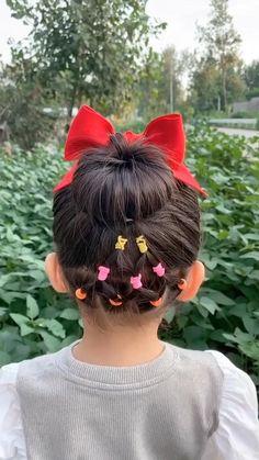 Cute Toddler Hairstyles, Cute Little Girl Hairstyles, Baby Girl Hairstyles, Braids For Little Girls, 80s Hairstyles, Braided Hairstyles, Wacky Hair Days, Crazy Hair Days, Crazy Hair Day Girls