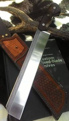 Www.oldblockblades.etsy.com ELITE SHEEPS FOOT Knife Competition Chopper Knife Big by OldBlockBlades