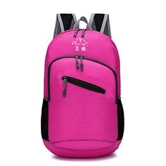 Ultra Lightweight Handy Foldable Outdoor Travel Backpack for Men and Women Hot pink * Check this awesome product by going to the link at the image. Note:It is Affiliate Link to Amazon.