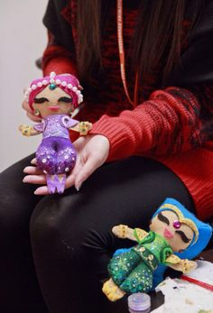 Home made shimmer and shine ornaments