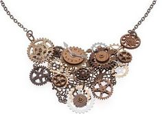 We have all seen the coin necklaces ....I LOVE this necklace with clocks and gears. Great tutorial !