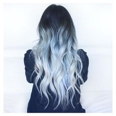 29 Blue Hair Color Ideas for Daring Women ❤ liked on Polyvore featuring hair and hair and wigs