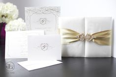 White and Gold Wedding. pictures of gold and ivory wedding invitations | invitations, gold, ivory, cream, luxury wedding invitations, boxed ...